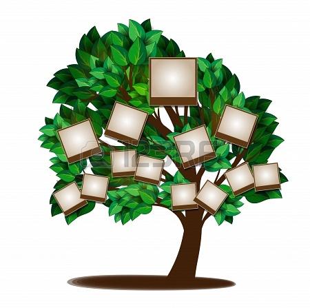 Semblant d'arbre 6 générations avec photos