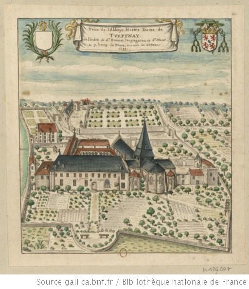 Le logis abbatial de l'ancienne abbaye de Turpenay