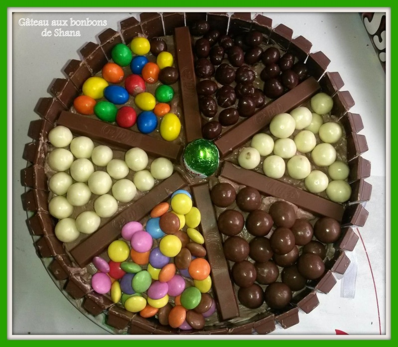 Gateau bonbon smarties