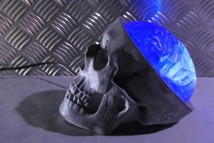 lampe tête de mort