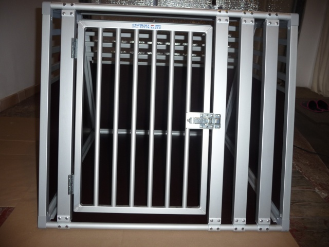 cage metal grand chien