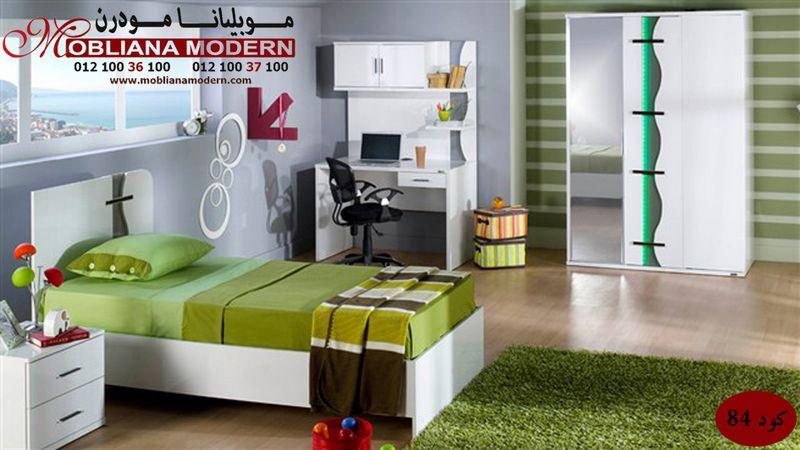 2014 غرف اطفال مودرن 2014 دهانات فرن باللون الأبيض و الأخضر غرف