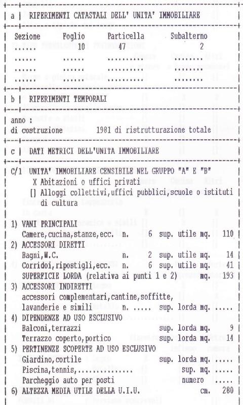 Forum superficie catastale nel 1997 determinata da docfa for Superficie catastale