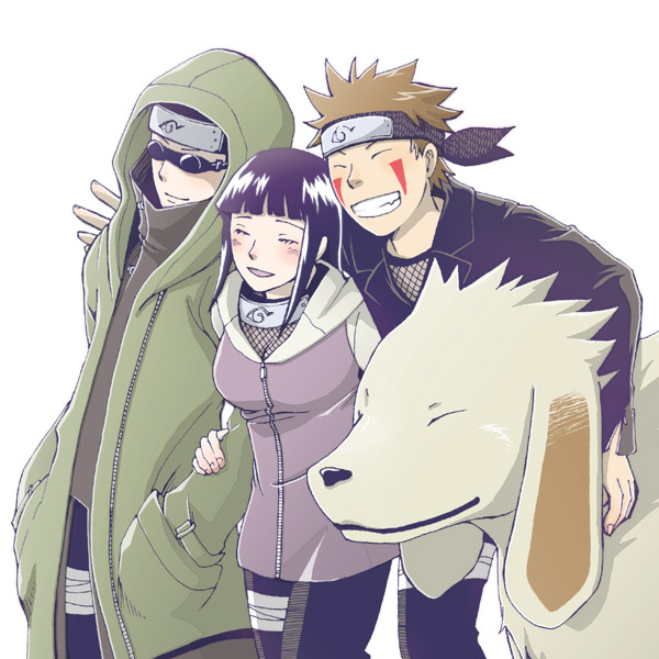 Kiba x Hinata x Shino Team 8 en force