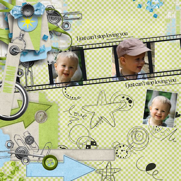 a kit for my man un kit pour mon homme simplette scrap design page audrey