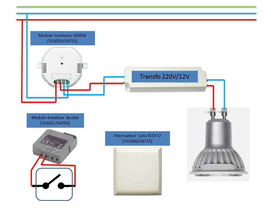 Controle clairage nouvelle pi ce for Interrupteur sans fil exterieur