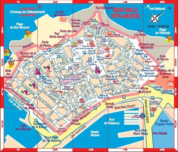 Plan De Ville De Dinan