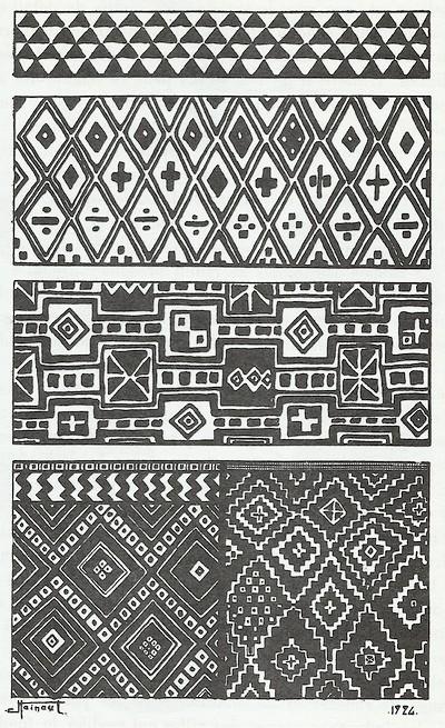 tissu africain coloriage