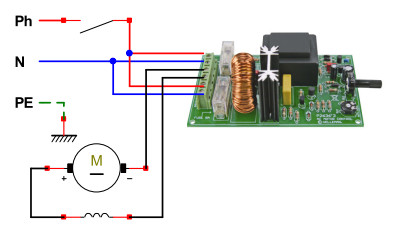 Potentiomètre branchement