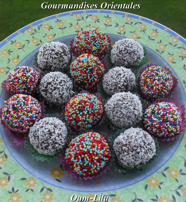 Gateau Boule De Neige Noix De Coco: Patisserie Orientale Au Chocolat