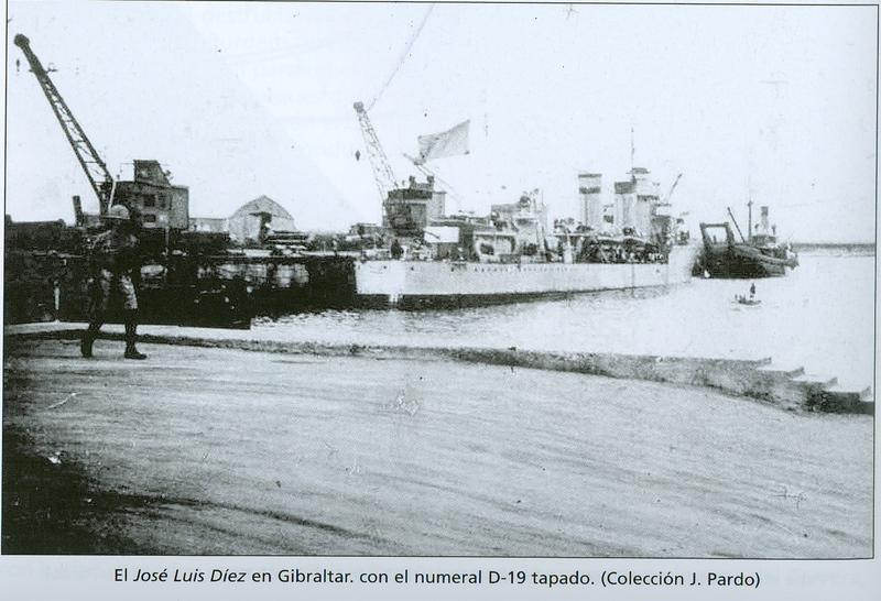 Juillet 1936à avril 1939; marine espagnole la guerre civile