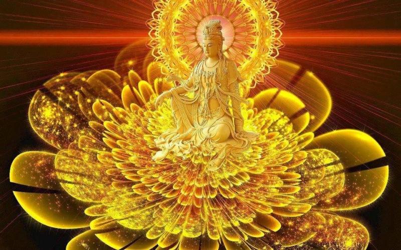 bouddha lotus doré