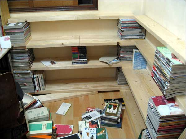 se faire une petite biblioth que sans trop de peine. Black Bedroom Furniture Sets. Home Design Ideas