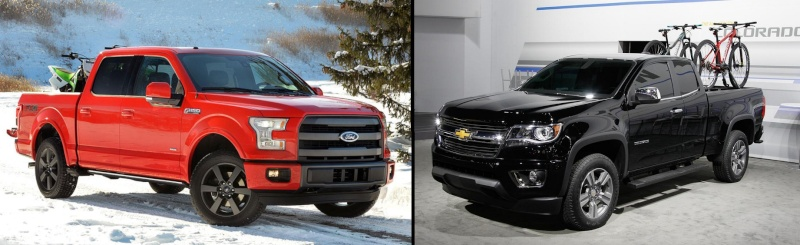 weighty matter chevy colorado vs ford f 150