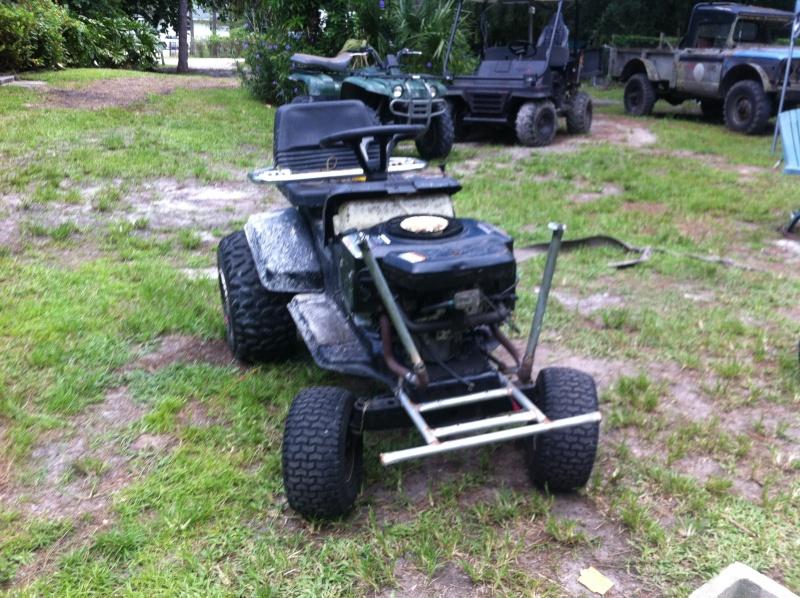 Garden Tractor Drag : Quot the grasser drag mower build