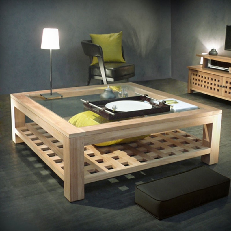 grande table basse carr e page 3. Black Bedroom Furniture Sets. Home Design Ideas