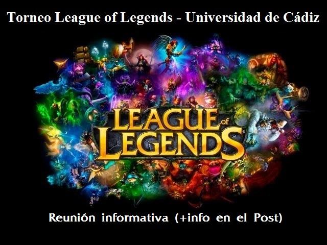 Torneo LoL UCA - Reunión informativa (+info en Noticias)