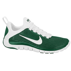 nike shoes green white free trainer 5 0