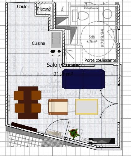am nagement s jour cuisine t2. Black Bedroom Furniture Sets. Home Design Ideas